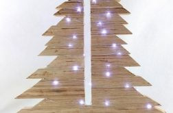Drewniana naturalna asymetryczna choinka 50