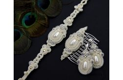 Komplet ślubny romantic ivory soutache
