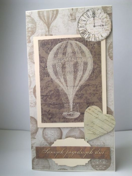 Kartka z balonami