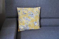 Poszewka dekoracyjna - żółte ptaszki