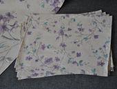 Podkładki pod kubki i pod talerze fioletowe kwiaty