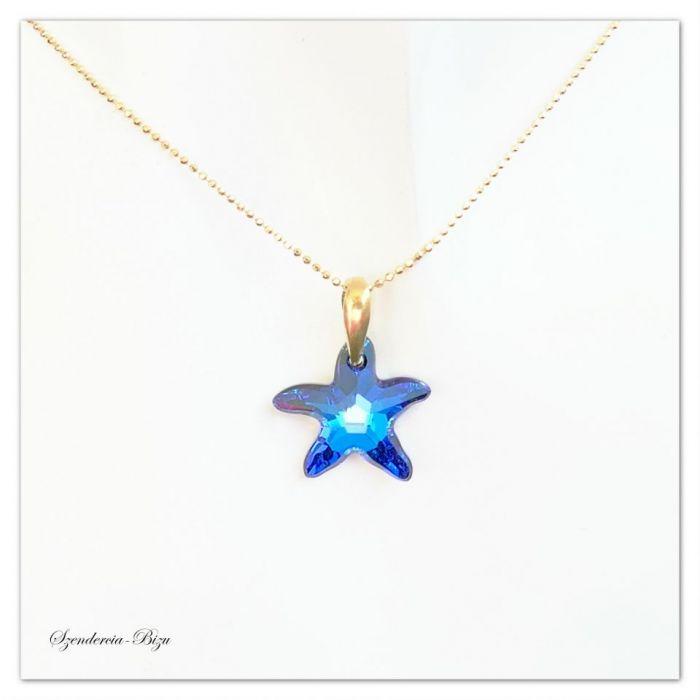 Pozłacana Zawieszka Swarovski Starfish 16mm