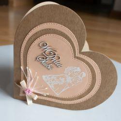 Kartka ślubna W dniu ślubu serce