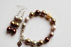 pastelowy komplet perłowy