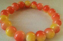 Bransoletka z koralików powlekanych pomarańcz