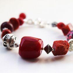 czerwony mix kamieni