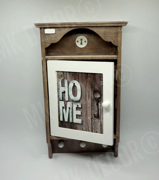 Duża szafka, domek na klucze retro HOME1 - przechowywanie kluczy