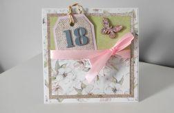 Kartka ręcznie robiona urodziny 18 osiemnastka
