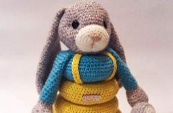 Piramidka króliczek zabawka edukacyjna
