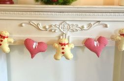 Świąteczna girlanda - pierniki serca