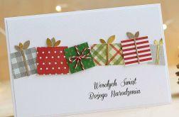 Kartka bożonarodzeniowa z prezencikami