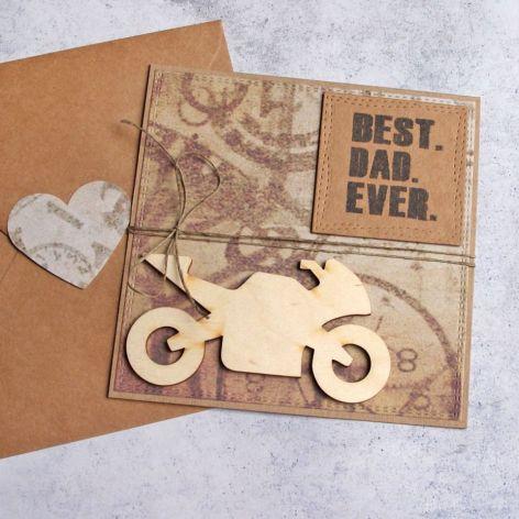 dla Taty - kartka dla taty-motocyklisty