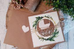 Rustykalna kartka na Chrzest Święty 01