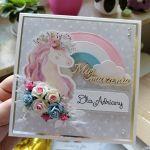 Kartka z jednorożcem Unicorn PDK 019 - Kartka z jednorożcem Unicorn (2)