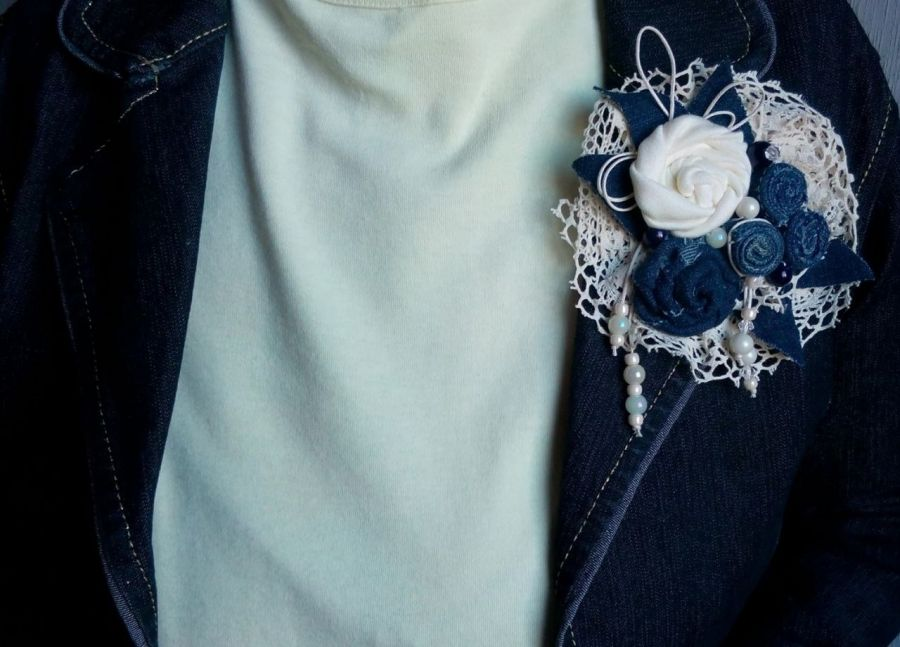 Broszka I-Kolekcja Blue Jeans