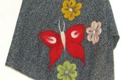 Ponczo dla dziewczynek w kwiatuszki 2