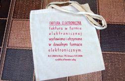 torba faktura elektroniczna ręcznie malowana