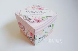 Pudełko exploding box ślub kwiaty