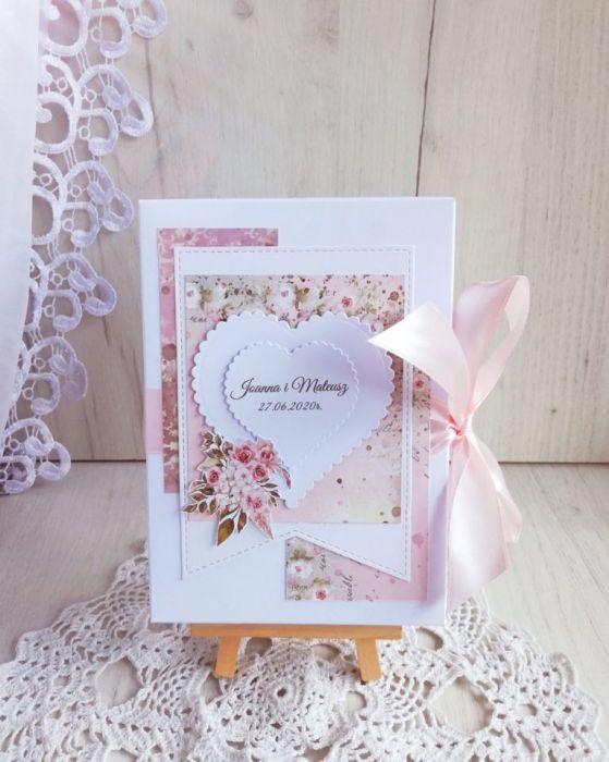 Romantyczna kartka ślubna Love Letters GOTOWA
