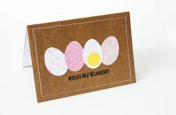 Różowe jajka kartka