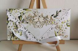 Kartka ślubna kopertowa kopertówka floral XII