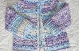 Sweterek szydełkowy - cieniowany