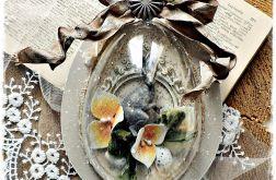 Jajko beżowe 15 cm - ozdoba Wielkanocna