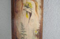 Dziewczyna wsród kwiatów - deska
