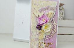 Liliowa Kartka z kopertą