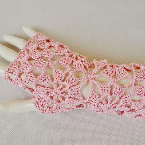 Rękawiczki, mitenki różowe