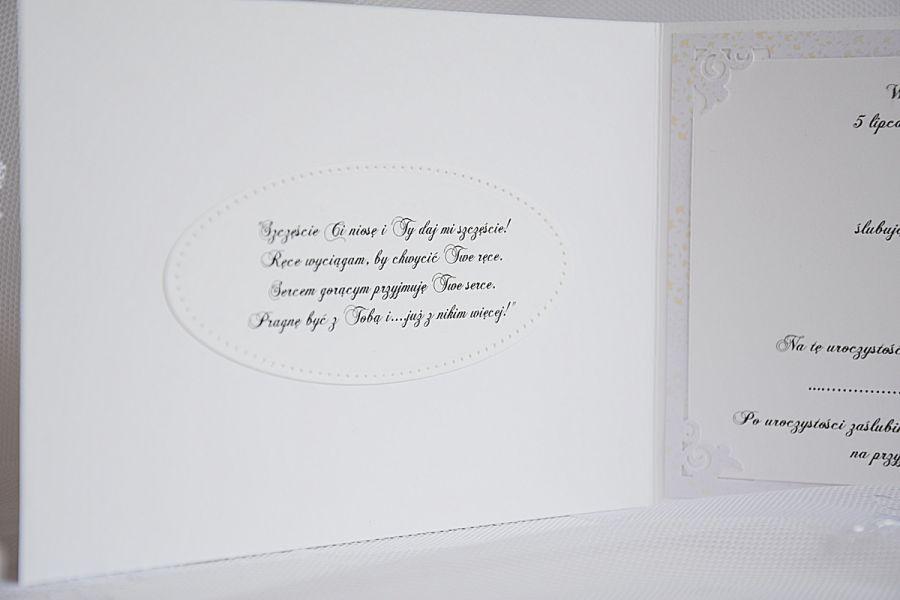 Ażurowe zaproszenia na ślub -