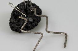 Zygzaki - srebrne kolczyki 150127-03