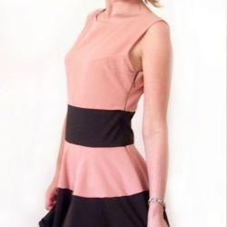 suknia rozkloszowana dwukolorowa