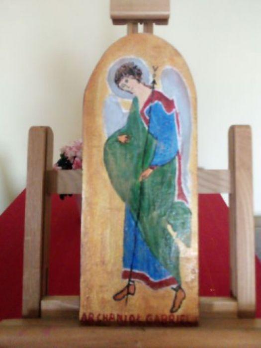 Anioł -Gabriel na desce - widok