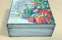 Pudełko świąteczny miś 1