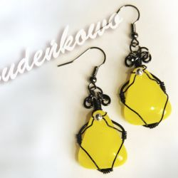 Żółte - fusing glass