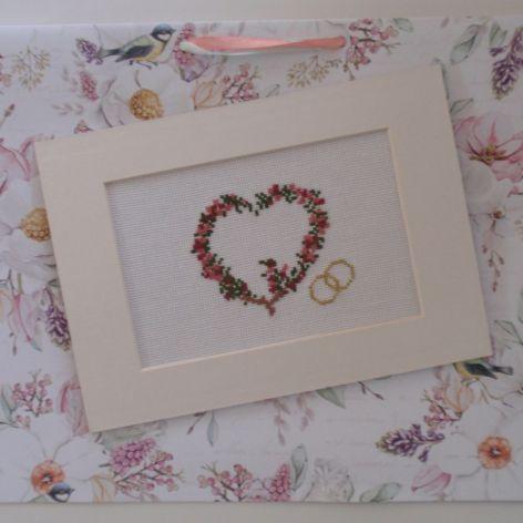 Ślubne serce - kartka na ślub