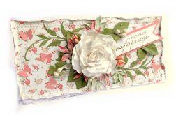 Kartka z białym kwiatem