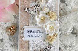Ślubna kartka w pudełku DL 08
