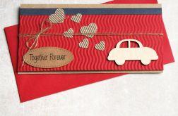 kartka - kopertówka :: brum brum :: RED