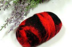 Mydełko filcowe czerwono-czarne