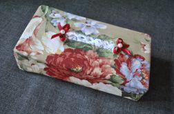 Etui na chusteczki Pastelowe kwiaty