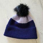 Modna gruba czapka z pomponem - czapka unisex