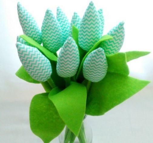 Tulipan 100% bawełna 10szt mieta