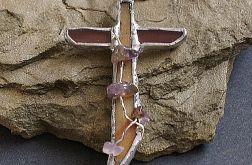 Krzyżyk z ametystami