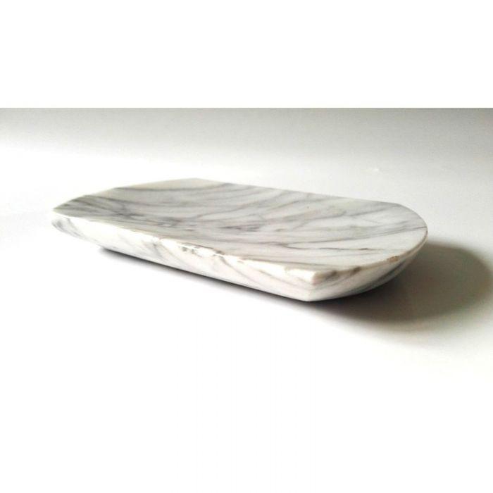 Mydelniczka z marmuru Bianco Carrara Venato - null