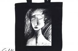 Szkic - torba z nadrukiem czarna