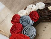 Wianek z różami