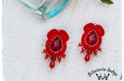Kolczyki sutasz Elegance by dudqa czerwony
