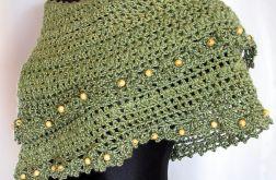 w zieleni - chusta - szal